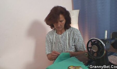 Tóc vàng bà nội trợ video sec vang anh Jolene cho một cum nuốt blowjob